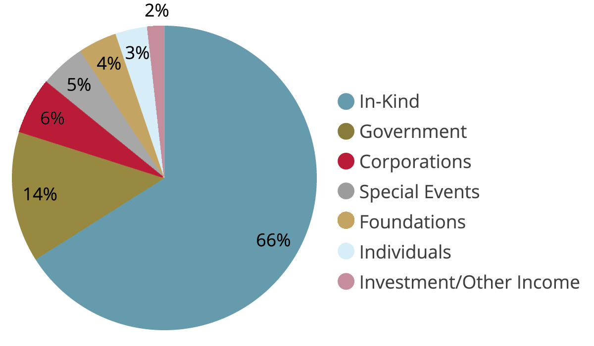 An illustrated pie chart representing revenue sources