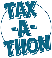 Illustrated logo for Ladder Up's Tax-a-Thon