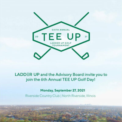 Ladder Up 6th annual golf outing poster